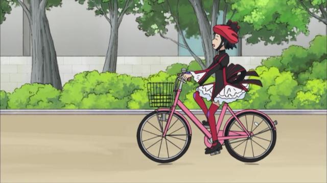 黒魔女さんが通る!! 2話 サイクリングです 黒魔女さん